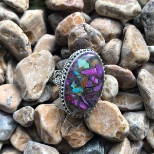 Jewelry - Multi Colored Copper Turquoise Sterling Ring